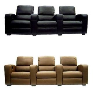 HOME THEATER SEATING LEATHER RECLINER MOVIE CINEMA SEATS CHAIRS