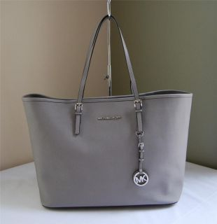 Michael Kors Jet Set Travel Tote Pearl Grey