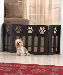 New Wooden Paw Print Pet Gate kitty Cat Puppy Dog Home Decor
