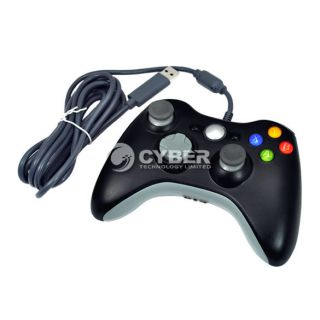 Wired Joypad Game Controller For Xbox 360 Joystick BLK Joypad Hot