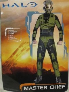 NEW Halo Master Chief Adult Size Costume Jumpsu​it & Mask