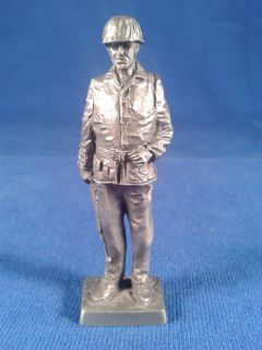 Franklin Mint Military Sculpture Collection Pewter 1944 Marine