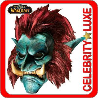 New WoW World Of Warcraft Troll Full Latex Mask Wig Costume Fancy