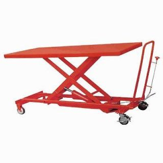 FOOT OPERATED HYDRAULIC EXTRA LARGE HEAVY DUTY LIFT TABLE CART 1100 LB