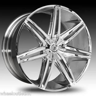 Wheels Johnson II Chrome Rims Tires Escalade Yukon Armada 24 26 22 30
