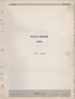 1969 BOMBARDIER SKI DOO ROTAX ENGINE PARTS MANUAL 669CC