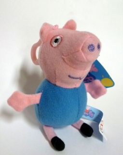 George 5 Plush Keyring Blue Peppa Pig Little Brother Soft Doll