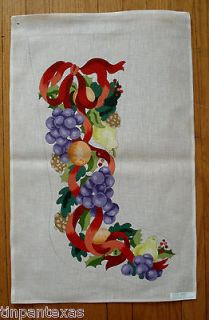 Handpainted Christmas Stocking Needlepoint Canvas 2699 Deux Amis