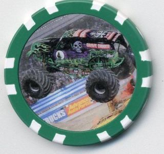 GRAVE DIGGER MONSTER TRUCK COLLECTOR CHIP