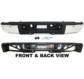 New Step Bumper Rear Chrome Chevrolet Silverado 1500 Truck 2011 GMC