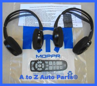 Chrysler Town & Country, Dodge Caravan DVD Player HEADPHONE & REMOTE
