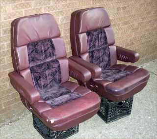 1992 1997 Ford Econoline Custom Van Pair of Purple Leather Seats