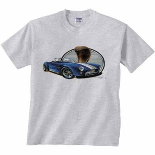 Ford T Shirt Ford Mustang Cobra Blue Convertible Car Tee