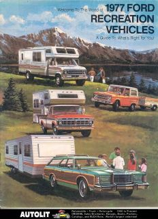 1977 Ford Pickup Camper Motorhome RV Brochure