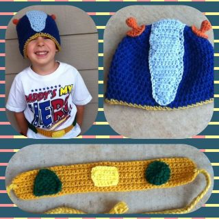 Geo   Team Umizoomi Hat/Beanie & Belt   Any colors Baby, Kids Adults