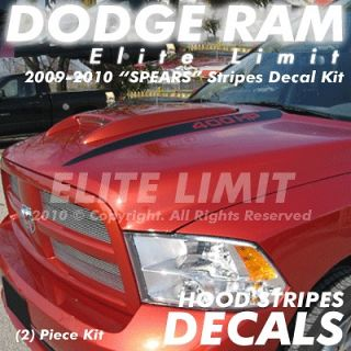 2009 & Up Dodge Ram 1500 Truck Decal Decals HOOD SPEARS Stripes Vinyl