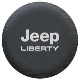 Jeep® Liberty Tire Cover Heavy Black Denim texture (Fits Jeep