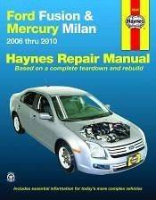 2006 2010 FORD FUSION MERCURY MILAN REPAIR MANUAL Owners Book Service