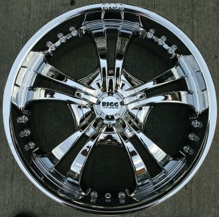 501 24 CHROME RIMS WHEELS LINCOLN NAVIGATOR 5 LUG / 24 X 9.5 5H +18