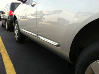 2008 2012 Nissan Rogue CHROME BODY SIDE MOLDINGS (factory)