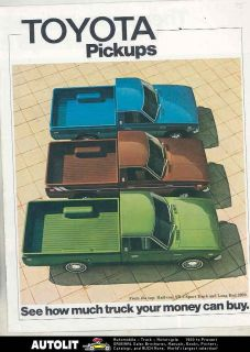 1975 Toyota Pickup Truck Brochure 1/2 Ton SR5 Sport Long Bed 2000