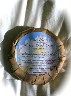 Raw African Black Soap Handmade With Shea Butter With or Without