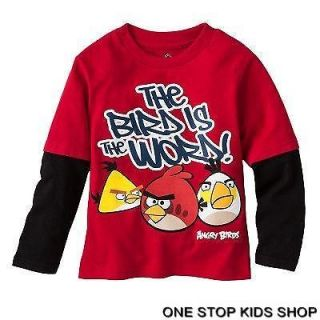 ANGRY BIRDS Toddler Boys 2T 3T 4T Long Sleeve Tee SHIRT Top