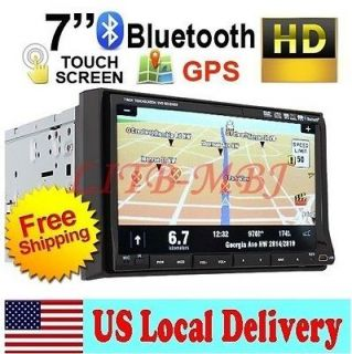 DOUBLE DIN 7 CAR DVD PLAYER WITH GPS NAVIGATION PIP IPOD RADIO