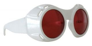 Cosplay Hyper Vision Willy Wonka Goggles White with Red Lenses, NEW
