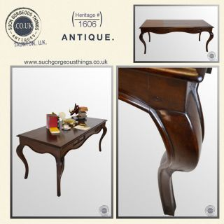 Antique Art Deco Period Fruitwood Console Desk Library Table c1930