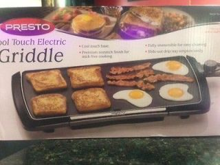 PRESTO COOL TOUCH ELECTRIC NON STICK GRIDDLE, GRILL ITEM # 07037