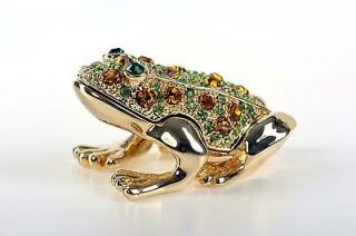 Frog Trinket Box by Keren Kopal   Swarovski Crystal Jewelry Box