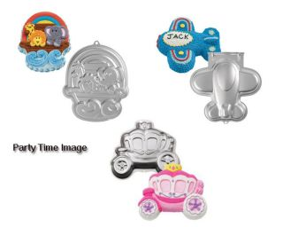 Wilton Shaped Cake Pans Noahs Ark,Airplane,Princess Carriage W/ FREE