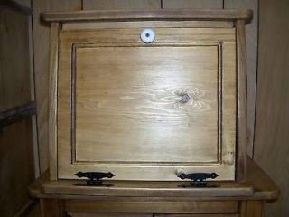 Handcrafted Pine Bread Box Kitchen Storage extra large