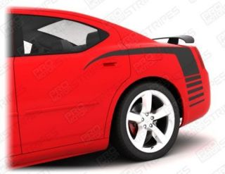 Dodge Charger Rear Quarter Stripe Decal Kit 2006 2010