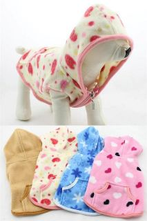 Pet coats Wholesale Dog Clothing Fleece Hoodie Winter Coat 4 Colors