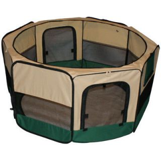 Newly listed NEW 45  PET PUPPY DOG PLAYPEN EXERCISE PEN KENNEL Green