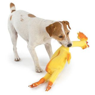 LARGE 24 RUBBER CHICKEN Squeaky Puppy DOG TOY or GAG GIFT Novelty