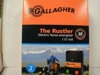 Gallagher   Rustler Electric Fence Charger   .5 Joule