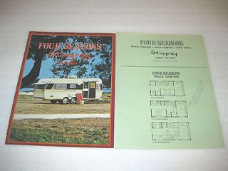 SEASONS STINGRAY COBRA TRAILERS, FIFTH WHEELS TRUCK CAMPERS BROCHURE