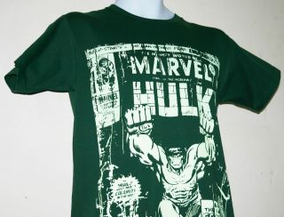 Hulk t shirt avengers assemble hero comic film bottle green s   4XL