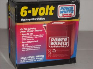 fisher price power wheels 6 volt battery in Ride On Toys & Accessories