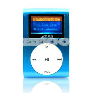 USB Flash Disk 4GB Mini Clip Gift  Music 4 GB TF Player with LCD