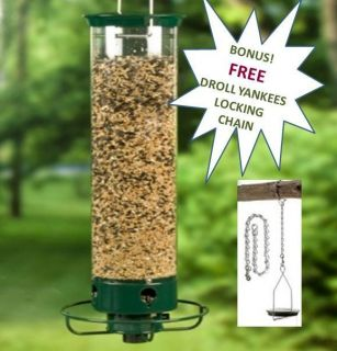DROLL YANKEES YANKEE FLIPPER SQUIRREL PROOF BIRDFEEDER PLUS FREE