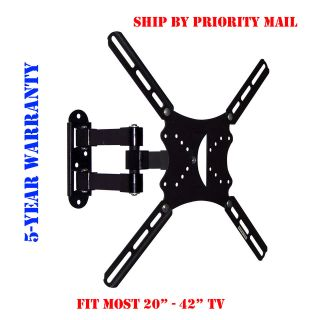 FULL MOTION ARTICULATING SWIVEL TILT TV WALL MOUNT 20 22 26 32 36 40