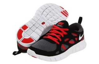 NIKE FREE RUN 2 GS YOUTH Kids Running Shoes 443742 011 Black Red White