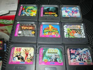 SEGA GAME GEAR GAMES.Lot of 9 GAMES