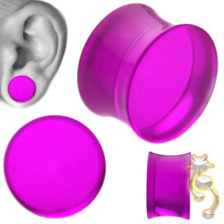 Double Flare Plugs Tube Ear Gauge Body Jewelry Tunnel Earlets Earrings
