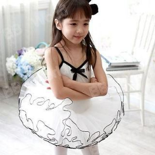 Girls Party Dance Ballet Tutu Dress Costume 6 7 Y White Color