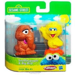 Sesame Street SNUFFLEUPAGUS & BIG BIRD 2 Pack Hasbro Playskool SNUFFY